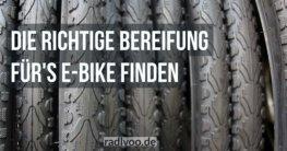 Die richtige Bereifung fürs E-Bike finden