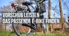 Das passende E-Bike finden