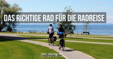 richtiges Rad für Radreise