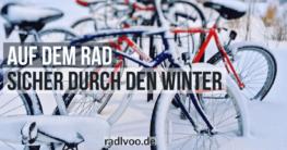 Fahrrad fahren im Winter