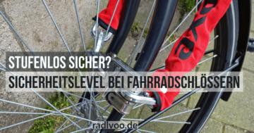 Sicherheitstufen fahrradschlösse