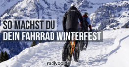 Fahrrad winterfest machen